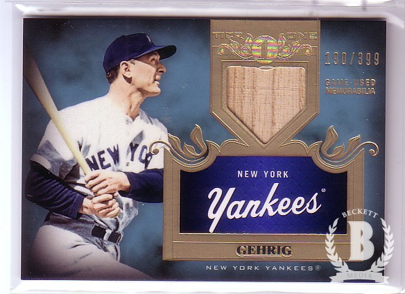 2011 Topps Tier One Top Shelf Relics #TSR27 Lou Gehrig