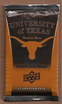 2011 Upper Deck Texas Football Hobby Pack