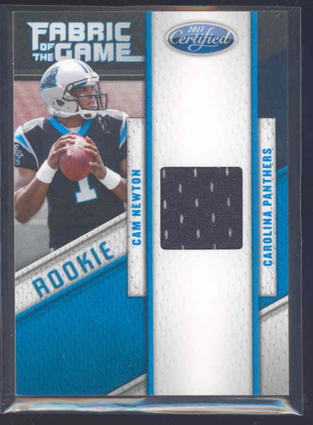 2011 Certified Rookie Fabric of the Game #24 Cam Newton/250