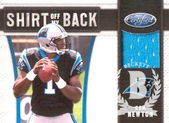 2011 Certified Shirt Off My Back Materials #17 Cam Newton/250