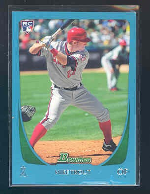 2011 Bowman Draft Blue #101 Mike Trout