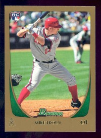 2011 Bowman Draft Gold #101 Mike Trout