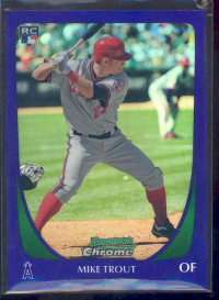 2011 Bowman Chrome Draft Purple Refractors #101 Mike Trout
