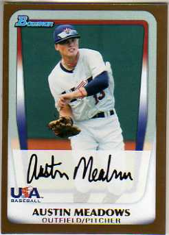 2011 Bowman Draft Prospects Gold #BDPP100 Austin Meadows
