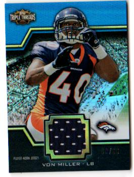 2011 Topps Triple Threads Unity Relics #TTUSR67 Von Miller