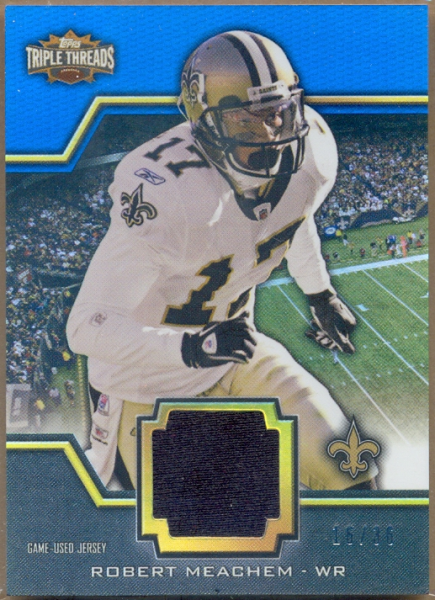 2011 Topps Triple Threads Unity Relics #TTUSR169 Robert Meachem