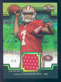 2011 Topps Triple Threads Unity Relics Gold #TTUSR146 Colin Kaepernick