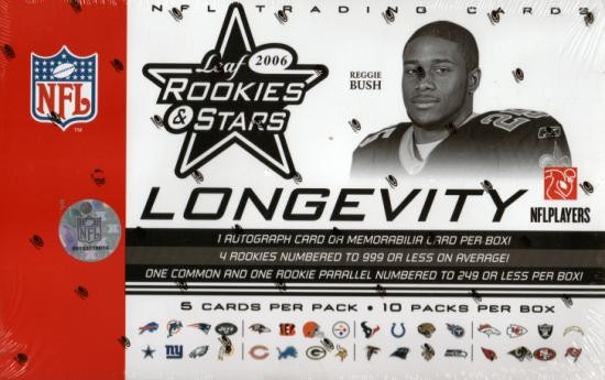 2006 Leaf Rookies and Stars Longevity Target Football Retail Box