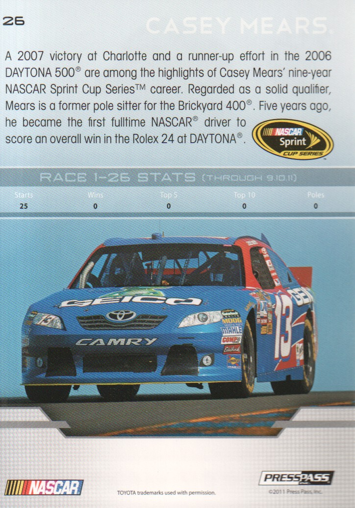 2012-Press-Pass-Parallels-NASCAR-Racing-Cards-Pick-From-List thumbnail 13
