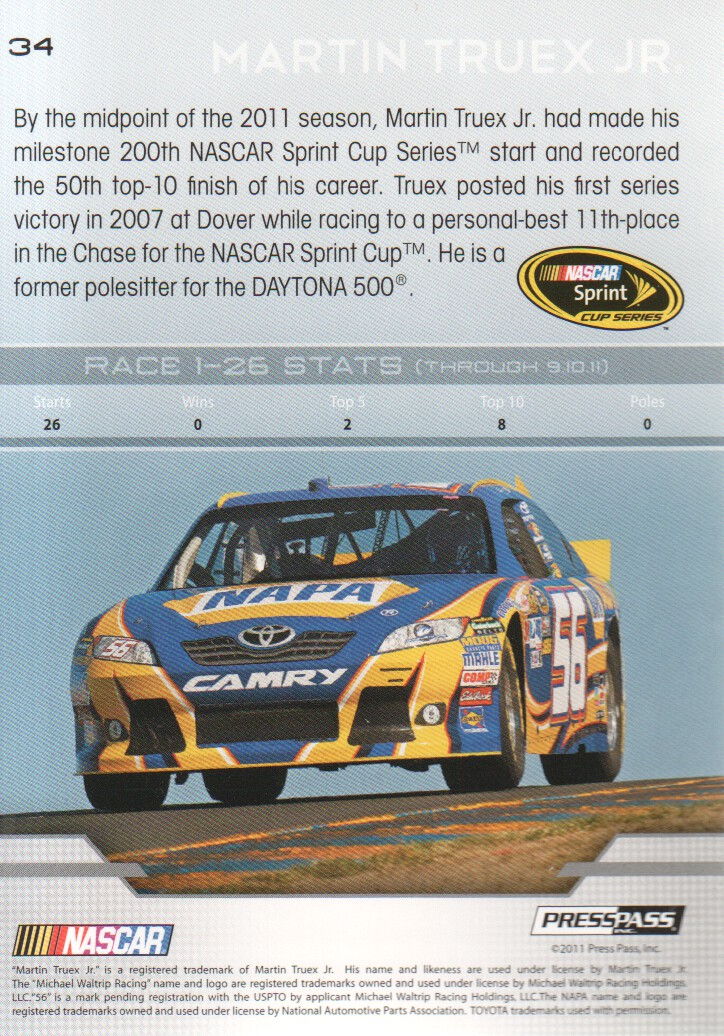 2012-Press-Pass-Parallels-NASCAR-Racing-Cards-Pick-From-List thumbnail 17