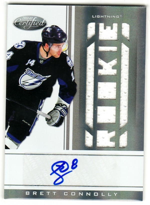 2011-12 Certified #221 Brett Connolly JSY AU RC