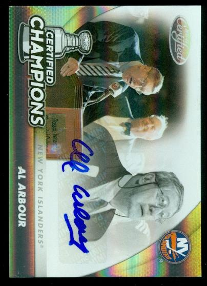 2011-12 Certified Champions Autographs #17 Al Arbour/25