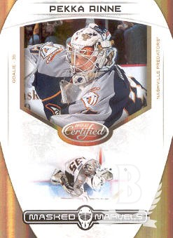 2011-12 Certified Masked Marvels Mirror Gold #7 Pekka Rinne