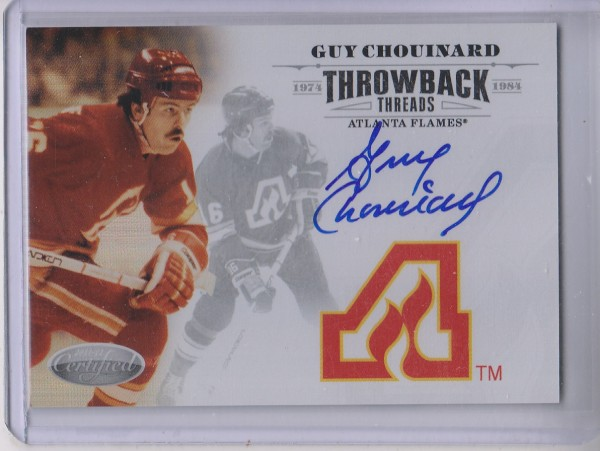 2011-12 Certified Throwback Threads Autographs #5 Guy Chouinard/100
