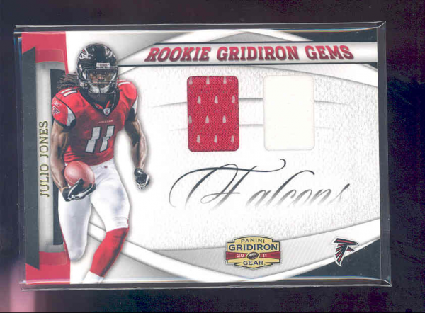 2011 Panini Gridiron Gear Rookie Gridiron Gems Jerseys Combos #17 Julio Jones