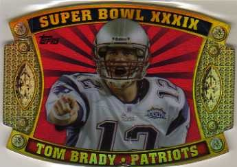 2011 Topps Super Bowl Legends Giveaway Die Cut #49 Tom Brady