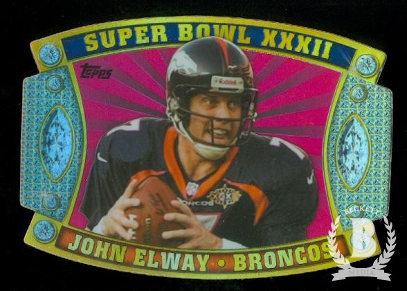 2011 Topps Super Bowl Legends Giveaway Die Cut #52 John Elway