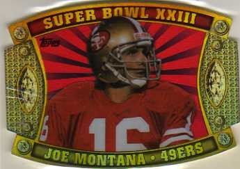 2011 Topps Super Bowl Legends Giveaway Die Cut #62 Joe Montana