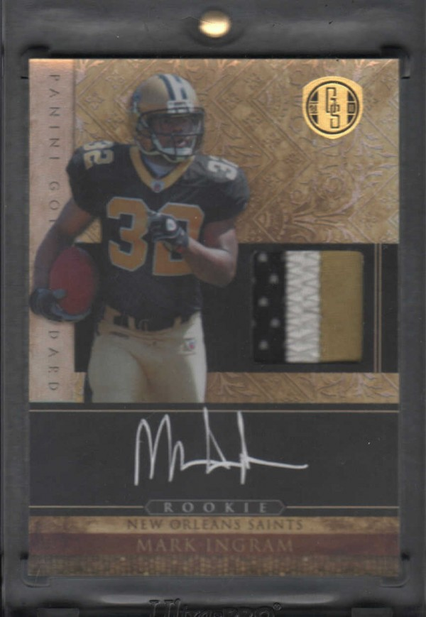 2011 Panini Gold Standard #260 Mark Ingram JSY AU/325 RC