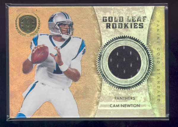 2011 Panini Gold Standard Gold Leaf Rookies Materials #1 Cam Newton