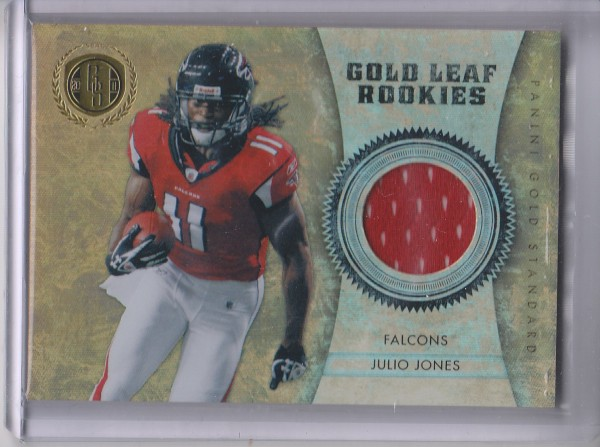 2011 Panini Gold Standard Gold Leaf Rookies Materials #5 Julio Jones