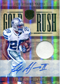 2011 Panini Gold Standard Gold Rush Materials Autographs #19 Felix Jones/10 front image