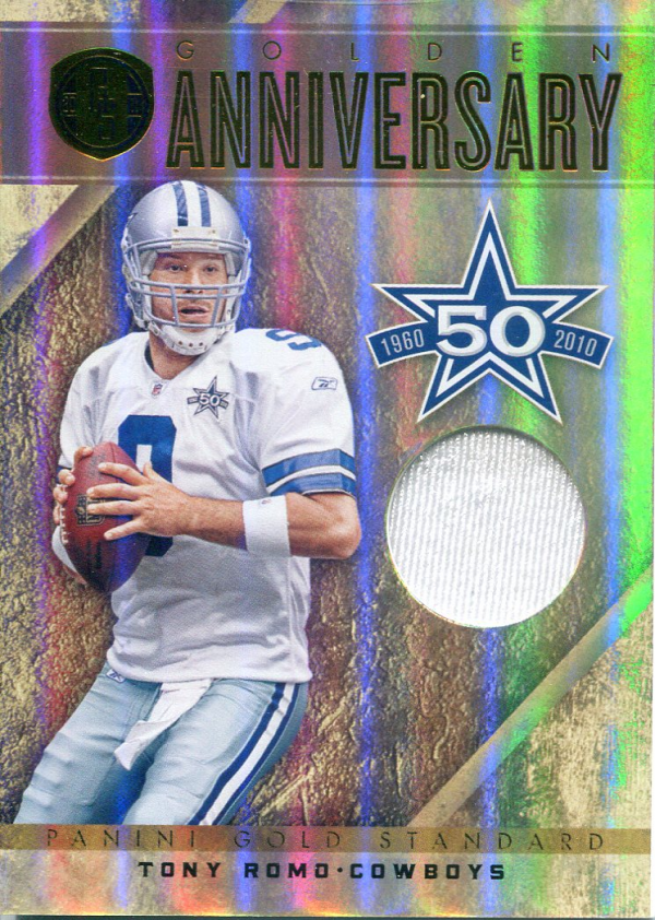 2011 Panini Gold Standard Golden Anniversary Materials #49 Tony Romo/99