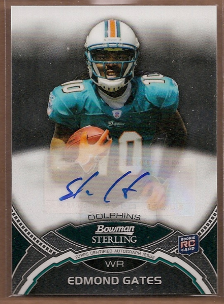 2011 Bowman Sterling #BSAEG Edmond Gates AU