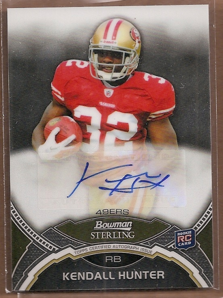 2011 Bowman Sterling #BSAKH Kendall Hunter AU