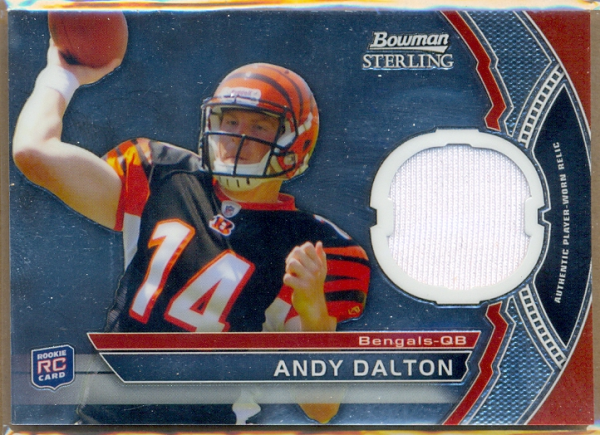 2011 Bowman Sterling #BSRAD Andy Dalton JSY RC