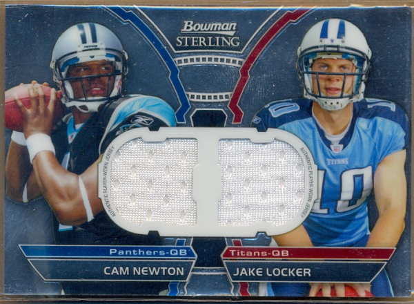 2011 Bowman Sterling Dual Jersey Box Topper #BSDRNL Cam Newton/Jake Locker