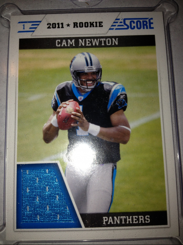 2011 Score Retail Factory Set Rookie Jerseys #CN Cam Newton