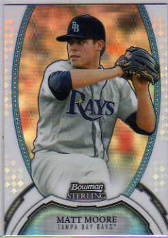 2011 Bowman Sterling Prospects Refractors #7 Matt Moore