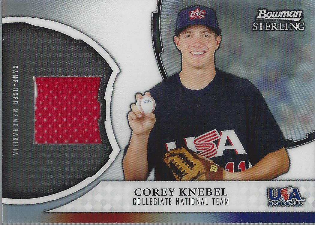 2011 Bowman Sterling USA Baseball Relics #CK Corey Knebel