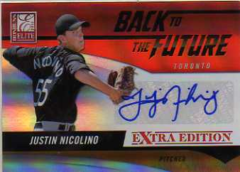 2011 Donruss Elite Extra Edition Back to the Future Signatures #12 Justin Nicolino