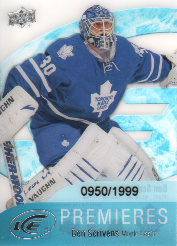 2011-12 Upper Deck Ice #51 Ben Scrivens RC