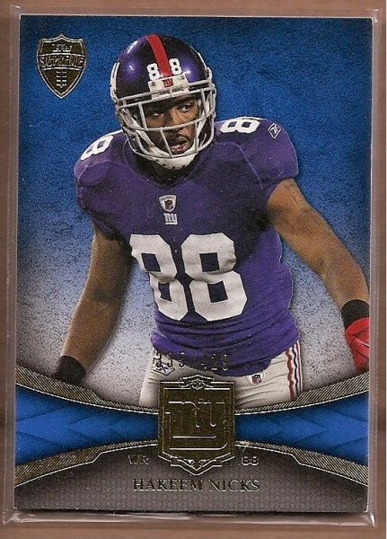 2011 Topps Supreme #77 Hakeem Nicks