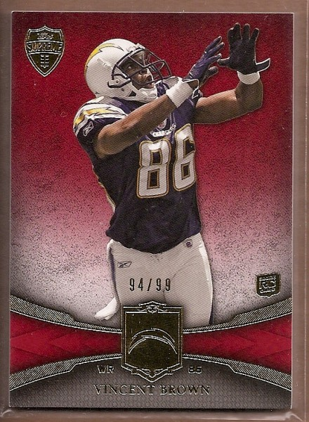 2011 Topps Supreme Red #2 Vincent Brown