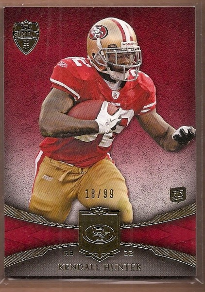 2011 Topps Supreme Red #43 Kendall Hunter