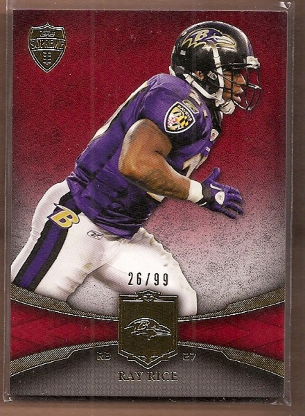 2011 Topps Supreme Red #64 Ray Rice