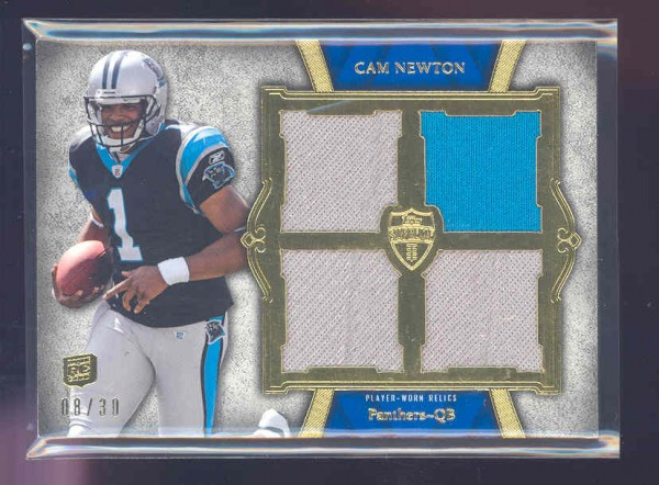 2011 Topps Supreme Rookie Quad Relics #SRQRCN1 Cam Newton/30
