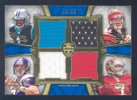 2011 Topps Supreme Rookie Relic Quad Combos #NDPK Cam Newton/Andy Dalton/Christian Ponder/Colin Kaepernick