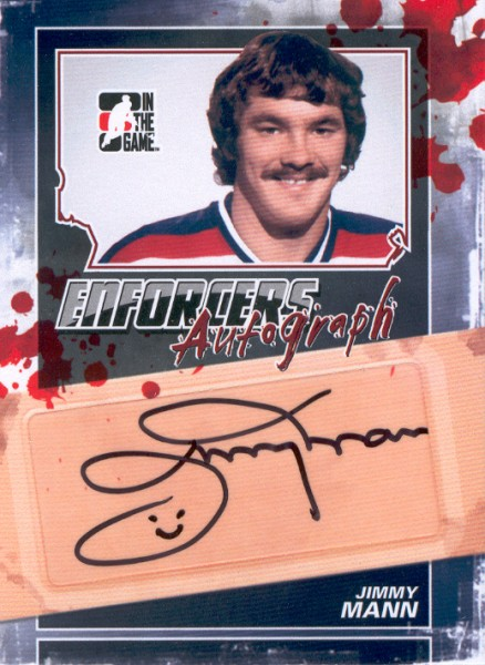 2011-12 ITG Enforcers Autographs #AJMA Jimmy Mann