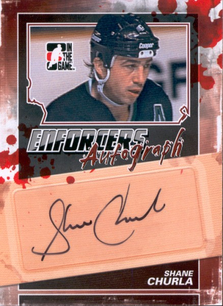 2011-12 ITG Enforcers Autographs #ASCH Shane Churla