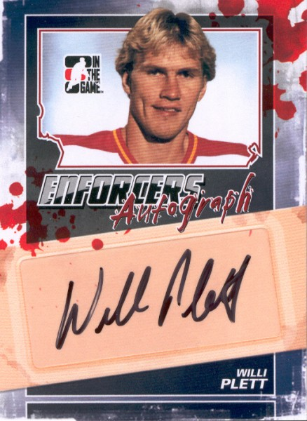 2011-12 ITG Enforcers Autographs #AWPL Willi Plett