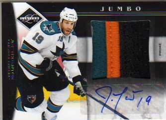 2011-12 Limited Jumbo Materials Prime Signatures #6 Joe Thornton/25