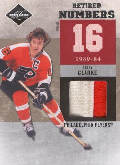 2011-12 Limited Retired Numbers Materials Prime #5 Bobby Clarke