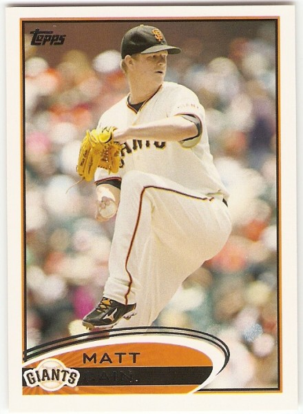 2012 Topps #155 Matt Cain