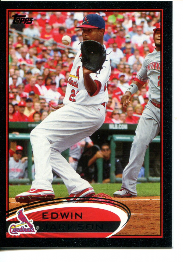 2012 Topps Black #44 Edwin Jackson