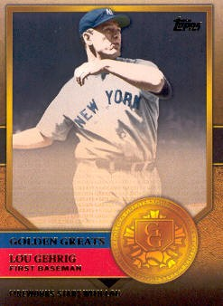2012 Topps Golden Greats #GG3 Lou Gehrig